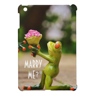 Marry Me cute funny frogs iPad Mini Cover
