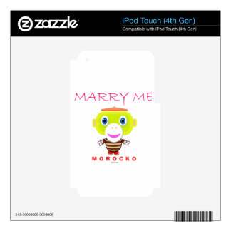 Marry Me-Cute Monkey-Morocko iPod Touch 4G Decals