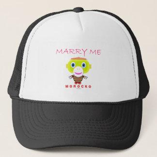 Marry Me-Cute Monkey-Morocko Trucker Hat