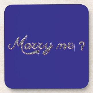 Marry Me Hard plastic coaster
