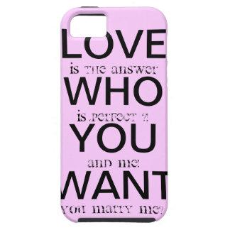 marry ME iPhone SE/5/5s Case