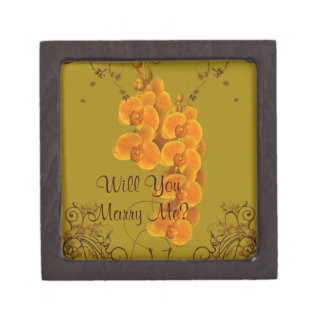 Marry Me Orchids Engagement Ring Gift Box