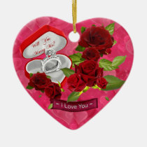 ornament, romantic, love, you, wedding, gift, gifts, women, shower, party, birthday, Ornament with custom graphic design