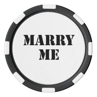 Marry Me Poker Chip Set