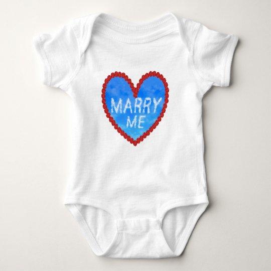 Marry Me Proposal Baby Bodysuit