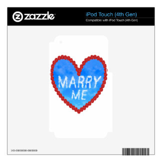 marry me  proposal decal for iPod touch 4G