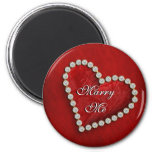 """""""Marry me"""" proposal propose romantic Refrigerator Magnets"""