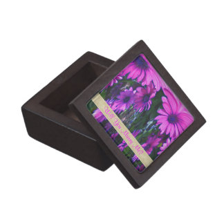 Marry Me Purple Daisies Engagement Ring Box