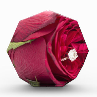 Marry me? Red Rose with diamond ring Awards