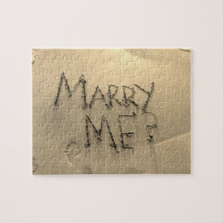 Marry Me Sand Marriage Proposal Jigsaw Puzzle