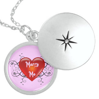 Marry Me Sterling Silver Locket