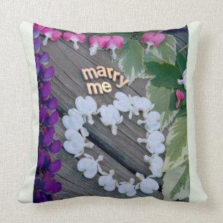 """MARRY ME"" - Throw Pillow jjhélène Design"