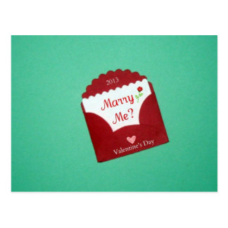 Marry Me? Valentine's Day 2013 Postcard