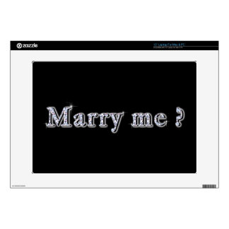 """Marry me Vinyl Device Protection Skin Skin For 15"""" Laptop"""