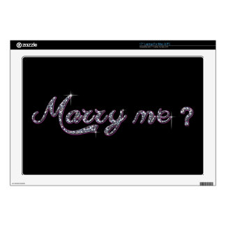 """Marry me Vinyl Device Protection Skin Skins For 17"""" Laptops"""