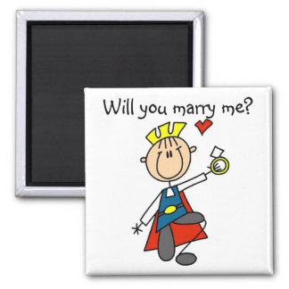 Marry Me Wedding Proposal Tshirts and Gifts 2 Inch Square Magnet
