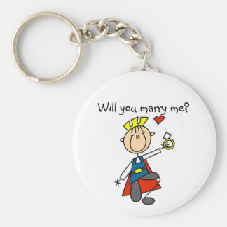 Marry Me Wedding Proposal Tshirts and Gifts Key Chains