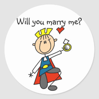 Marry Me Wedding Proposal Tshirts and Gifts Classic Round Sticker