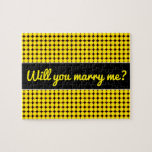 [ Thumbnail: Marry Me? + Yellow and Orange Dots/Circles Pattern Jigsaw Puzzle ]