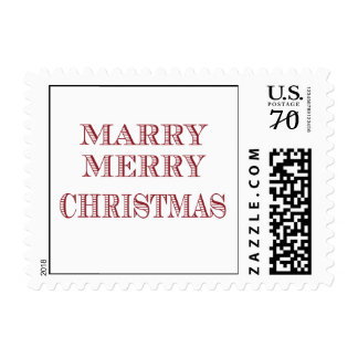 Marry, Merry Christmas Stamp