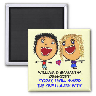 Marry My Best Friend 2 Inch Square Magnet