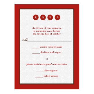 Marry Response Postcard