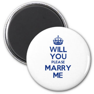MarryMe Blue on White Magnet