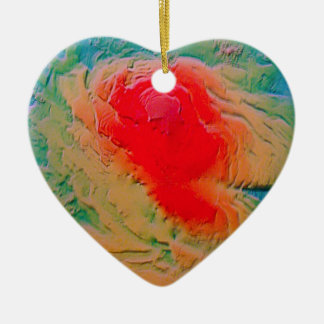 Mars #4 heart ornament