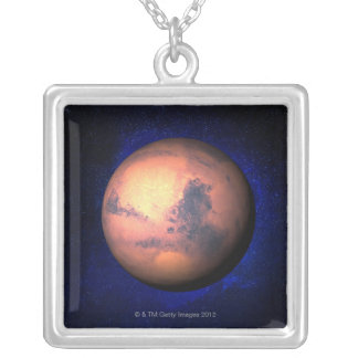 Mars 5 square pendant necklace