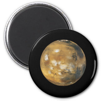 Mars!  A beautiful image from space.  NASA 2 Inch Round Magnet