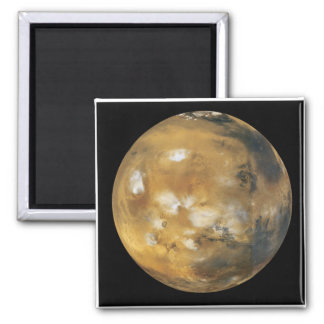 Mars!  A beautiful image from space.  NASA 2 Inch Square Magnet