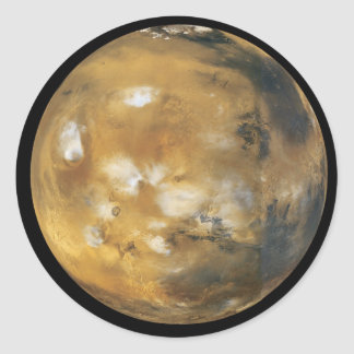 Mars!  A beautiful image from space.  NASA Classic Round Sticker