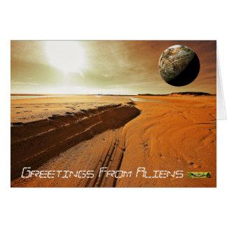 Mars Aliens Card