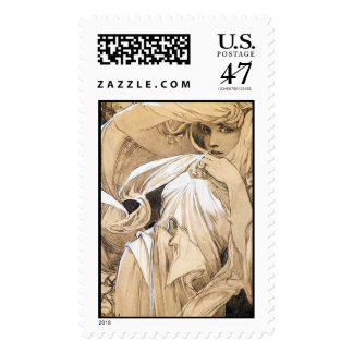 Mars, Alphonse Mucha - Postage Stamp