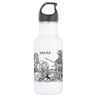 Mars Ares God of War Greek Roman Chariot Cartoon 18oz Water Bottle