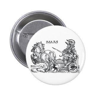 Mars Ares God of War Greek Roman Chariot Cartoon Pinback Button