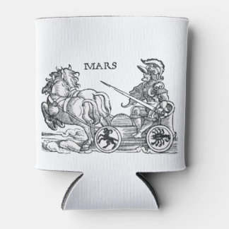 Mars Ares God of War Greek Roman Chariot Cartoon Can Cooler