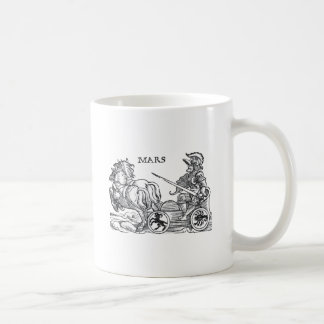 Mars Ares God of War Greek Roman Chariot Cartoon Coffee Mug