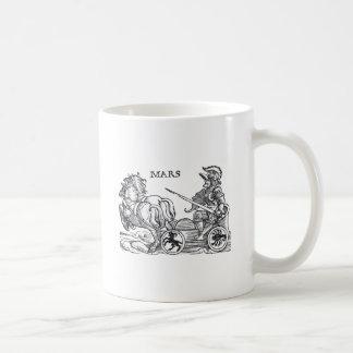 Mars Ares God of War Greek Roman Chariot Cartoon Mug