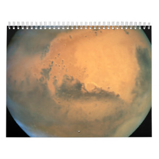 Mars at 43 Million Miles From Earth Wall Calendars