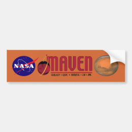 Mars Atmosphere and Volatile EvolutioN (MAVEN) Bumper Sticker