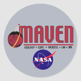 Mars Atmosphere and Volatile EvolutioN (MAVEN) Classic Round Sticker