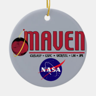 Mars Atmosphere and Volatile EvolutioN (MAVEN) Double-Sided Ceramic Round Christmas Ornament