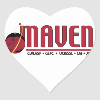 Mars Atmosphere and Volatile EvolutioN (MAVEN) Heart Sticker