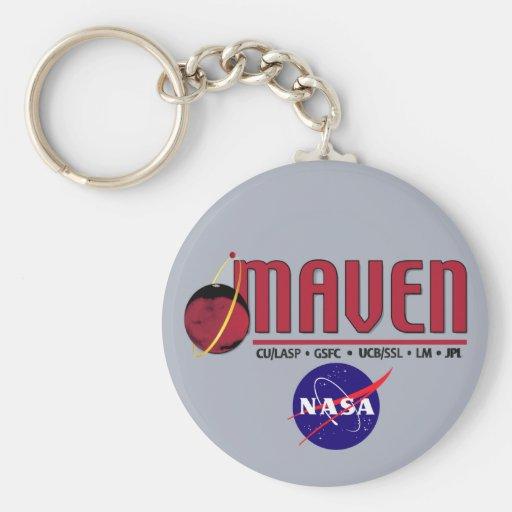 Mars Atmosphere and Volatile EvolutioN (MAVEN) Basic Round Button Keychain