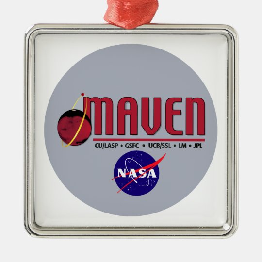 Mars Atmosphere and Volatile EvolutioN (MAVEN) Metal Ornament