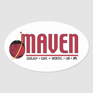 Mars Atmosphere and Volatile EvolutioN (MAVEN) Oval Sticker