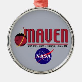 Mars Atmosphere and Volatile EvolutioN (MAVEN) Round Metal Christmas Ornament