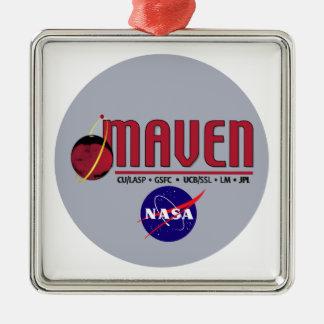 Mars Atmosphere and Volatile EvolutioN (MAVEN) Square Metal Christmas Ornament
