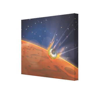 Mars atmospheric entry spacecraft canvas print